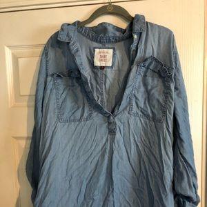 """Denim"" T-Shirt Dress"
